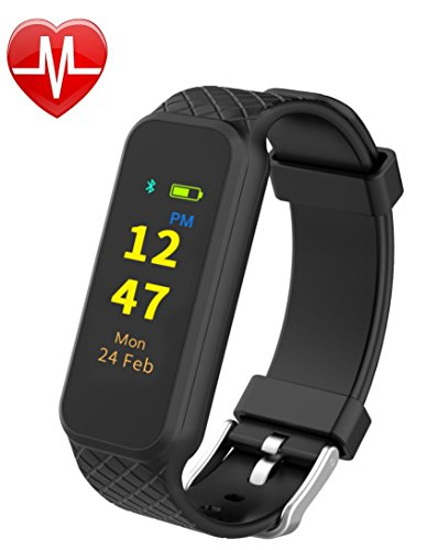 INCHOR Fitness Tracker HR2 Activity Tracker, with TouchScreen/Step/Calorie Counter, Health/Sleep Monitor, Wristband Smart Sports Band Watch for iPhone & Android Phones (Black) - Bosch Cpu