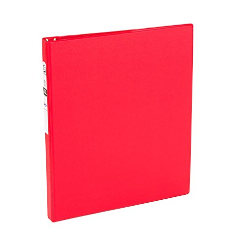 Avery Economy Binder with 0.5-Inch Round Ring, Red, 1 Binder (03210) ()