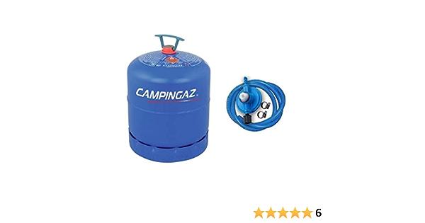 Bombona completa Campinga, art. 907 con 2,75 kg de gas + kit regulador original Campinga.