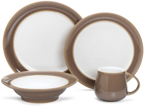 Denby (TRF-100W) Truffle 4-Piece Place Setting, Service for 1