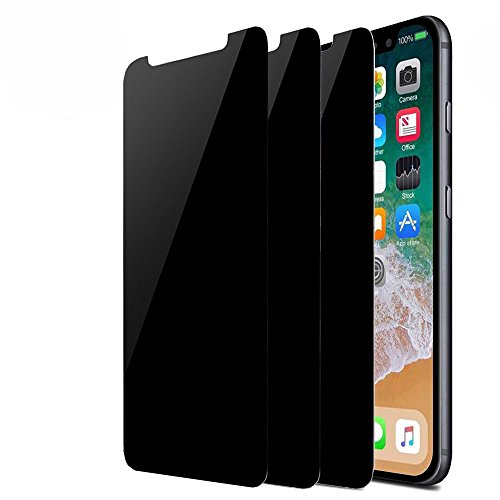 Aeetone iPhone X & iPhone Xs Screen Protector Privacy, [3 Packs] Anti-Spy Tempered Glass Film Bubble Free Compatible iPhone X/XS 5.8 inch