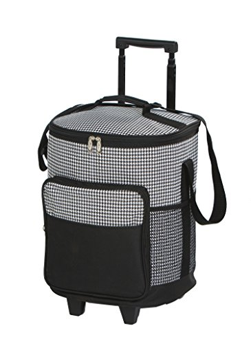 Dash Rolling Cooler - Houndstooth - Rolling Cooler With Insulated Leak Proof Lining