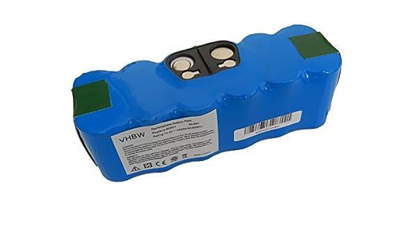 vhbw Batería Ni-Mh 4500mAh (14.4V) para aspiradoras, robots ...