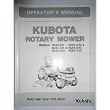 Amazon the g20 books kubota rc44 g17 rc48 g20 s rc44 g17 s rc54 g20 rc48 g20 and rc60 g20 rotary mower for lawn tractors operators owners manual 76505 original fandeluxe Images