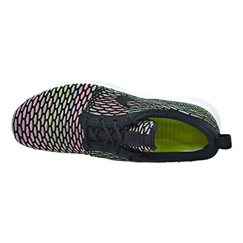 Nike Roshe Nm Flyknit Heren Schoenen Zwart / Roze Pow / Blauwe Gloed 677243-013