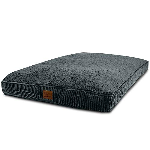 Floppy Dawg Super Extra Large Dog Bed with Removable Cover and Waterproof Liner. Made for Big Dogs up to 100 pounds and More. Jumbo Size 48 x 30 and Stuffed 6 Inches High with Memory Foam Pieces. by Floppy Dawg (Image #1)
