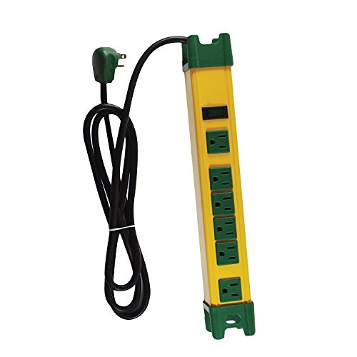 GoGreen Power GG-26114 – 6 Outlet Metal Surge Protector, Yellow Green