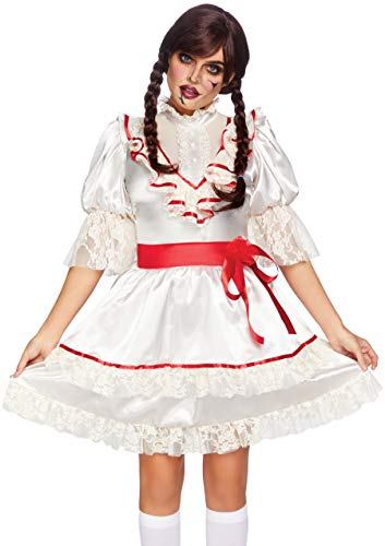 Leg Avenue Women's Haunted Doll Costume, Off White, Medium -