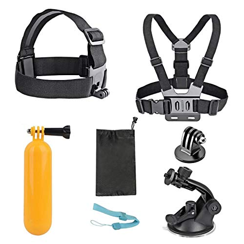 AKASO 7 in 1 Outdoor Sports Action Camera Accessories Mount Kit for Gopro Hero AKASO EK7000 Brave 4 CAMPARK DBPOWER Go Pro Hero 5 in Swimming Any Other Outdoor Sports