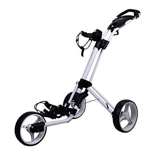 Powakaddy Twinline 4 Golf Push Trolley (White)