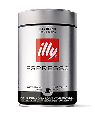 illy Dark Roast Coffee, Fine Grind, 8.8-Ounce Can (Ground Shipping Time)