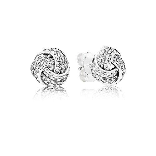 PANDORA Sparkling Love Knots Earring Studs 290696CZ
