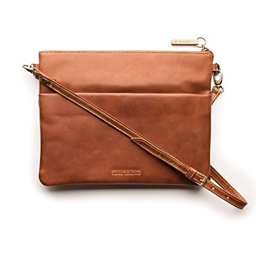 "Stitch & Hide ""Juliette"" Women's classic leather clutch wallet bag with removable shoulder strap by Stitch and Hide"