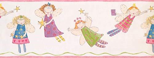 White Fairy Princess ZB3444BD Wallpaper Border