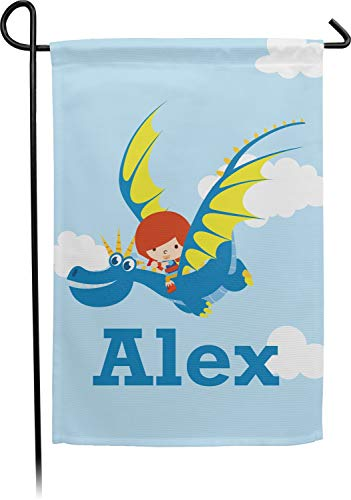 - YouCustomizeIt Flying a Dragon Double Sided Garden Flag with Pole (Personalized)