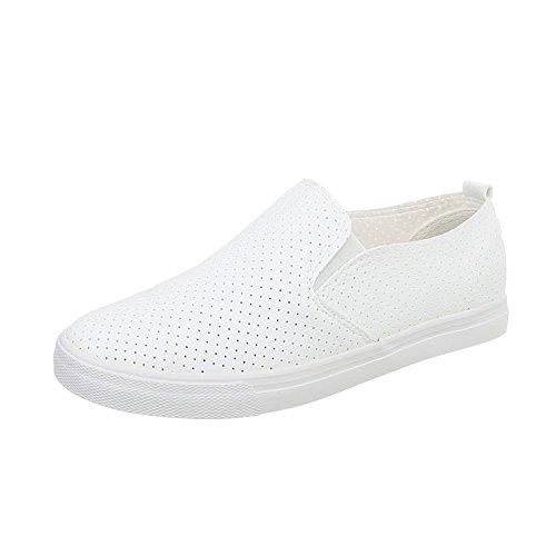 Chaussures De Sport-design Italien Faible Pour Femmes Moderne Occasionnels R52-2 Blanc