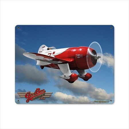 Past Time Signs LG272 Gee Bee II Aviation Vintage Metal Sign from Past Time Signs