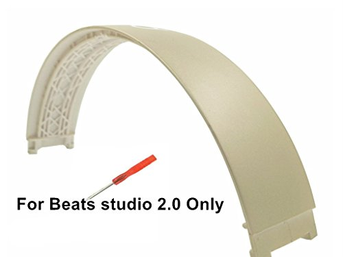 Replacement Top Headband Pad Cushions Repair Parts for Beats Studio 2.0 Wired / Wireless Over Ear Headphone - Gold Studio