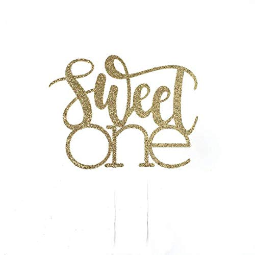 CMS Design Studio Sweet One Cake Topper - Ice Cream Party Theme Party - Dessert Birthday Party - Sweet one Birthday Décor - Sweet One Party Decor ()