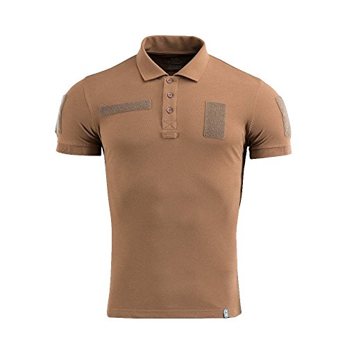Coyote Lightweight Vest - M-Tac Tactical Performance Polo Shirt for Men Cotton 65/35 Military Mens T-Shirt (Coyote Brown, M)