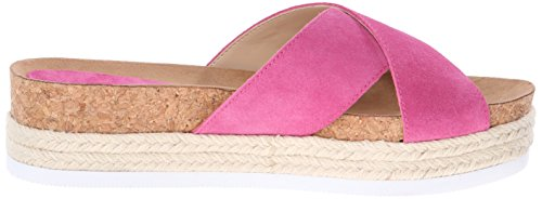 Pink Medium West Amyas Suede Sandale Platform Nine 7aq1Sn4x7