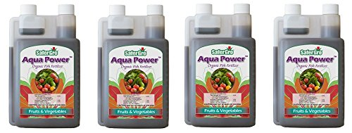 Safergro Aqua Power Certified Organic Fish Emulsion Concentrate, 1-Quart (4-Pack)