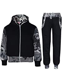 105738d661a1 Kids Tracksuit Girls Boys Fleece Hooded Hoodie Bottom Jogging Suit Jogger  2-13Yr