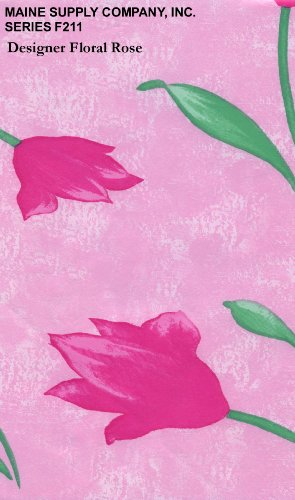 "Designer Floral Rose Series F0211 Vinyl Tablecloth 54"" X 45' Roll"