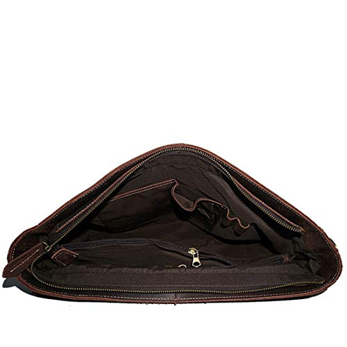 Sakuldes La Da Vintage Uomo color E A Dark Borsa Pelle Per Brown Il Tracolla Scuola In Lavoro Grande Brown xvv8RI