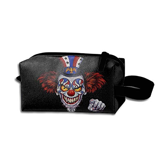 Dark Clown Evil Creepy Travel Bag Printed Multifunction Portable Toiletry Bag Cosmetic Makeup Pouch Case Organizer For Travel ()