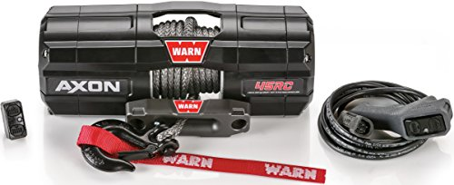 WARN 101240 AXON 45RC Powersports Winch With Spydura Synthetic Rope
