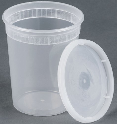 25 sets 32oz plastic soup/Food container with lids
