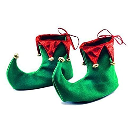 Christmas Fancy Dress Pointed Elf Shoes Cover Costume Accessory (1)  sc 1 st  Amazon UK & Christmas Fancy Dress Pointed Elf Shoes Cover Costume Accessory (1 ...