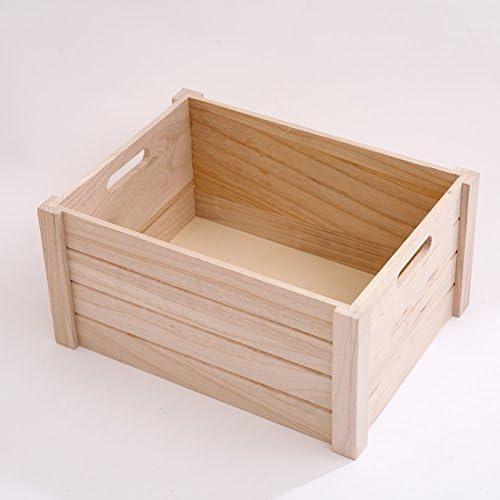 Caja de almacenaje Caja de Almacenamiento de Madera sólida Caja de Almacenamiento de Juguetes Caja de Almacenamiento de Juguetes Caja de Madera Rectangular de Gran Capacidad (Color : A): Amazon.es: Hogar
