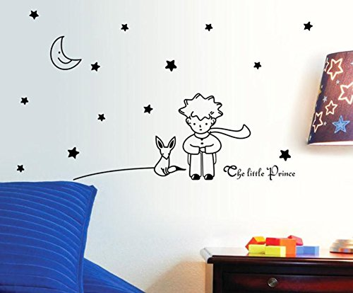 Sunshine Homes Wall Sticker Decal The Little Prince Kids Bedroom Nursery Daycare and Kindergarten Mural Home Decor DIY Self Adhesive Removable
