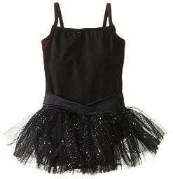 Capezio Little Girls\' Camisole Tutu Dress,Black,S (4-6)