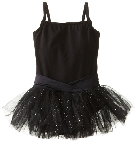 Satin Front Bodice (Capezio Little Girls' Camisole Tutu Dress,Black,T (2-4))