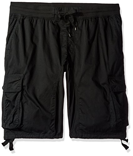 Mens Flex Cord Pant - Southpole Big and Tall Men's Jogger Shorts with Cargo Pockets in Solid and Camo Colors, Black(New), 4XB