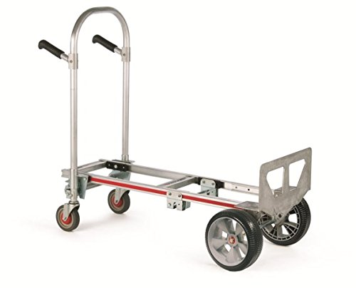 Magliner GMK16UAE 500 lbs Microcellular Wheels Gemini Junior Convertible Hand Truck - 10 in. by Magliner