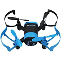 Chinatera Mini RC Quadcopter JXD 512W Quadcopter Toy with 0.3MP Camera WiFi Control FPV Drone for Christmas Gift(Blue)