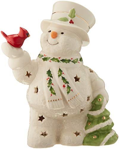 Lenox Happy Holly Days Snowman Lit -
