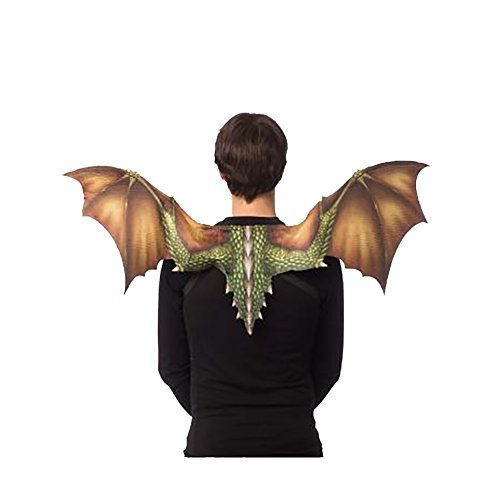 Halloween Cosplay Lightweight Dragon Wings for Teens or Adults (Green)
