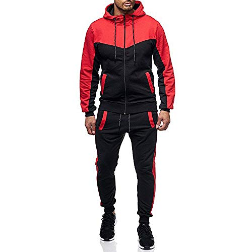 - 2019 Newest Jogger Set for Men Tracksuits Casual Crewneck Long Sleeve Full Zip Hoodie Sweatshirt+Joggers Pant Sportsuit