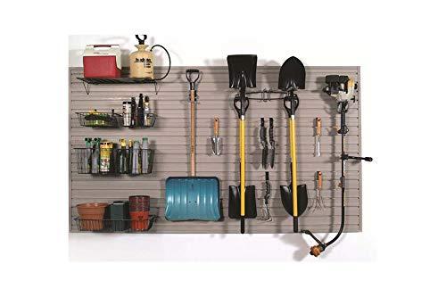 - Slatwall Garage Lawn & Garden Tool Storage and Organization Kit