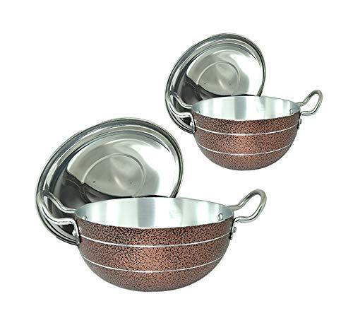 Bartan Hub Kadhai Set with lid  2500ml, 1000ml