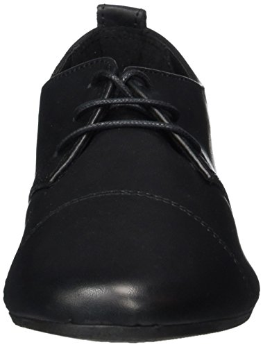 Nero 23222 Tamaris Scarpe Stringate Basse Black Oxford Donna 001 BYwF7qdxw