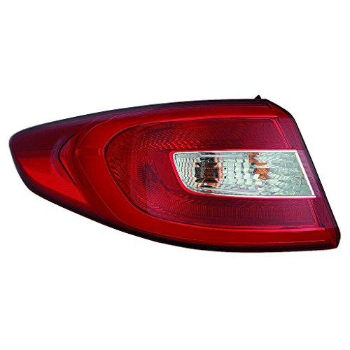 CarLights360: Fits 2015 2016 2017 HYUNDAI SONATA Tail Light Assembly Driver Side w/Bulbs - (NSF Certified) Replacement for HY2804129