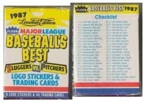 Base Box Set #31 Mint Condition 1987 Baseballs Best Sluggers vs Fleer Kirby Puckett Pitchers Baseball Card