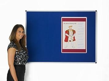 Aluminium framed Fire Rated Felt Notice Board GREY 1800mm x 1200mm