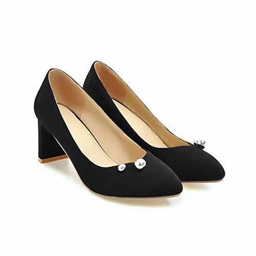 Shoes Chic Decorations Women's Heel Grace Toe Pointed Black Carolbar High Court qTgzfWHHw